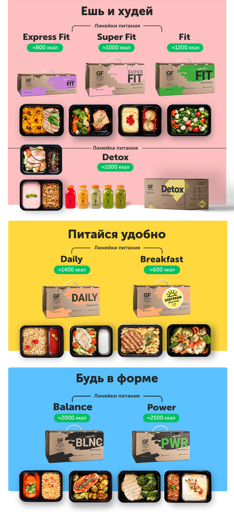 различные виды детического меню с доставкой по москве